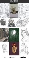 Daily doodles 2013-10 by Lysandr-a