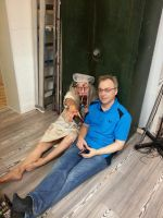 behind the scenes: tired photographer with zombie by Andr345R