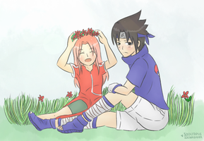 Sasuke and Sakura. by sooctopus