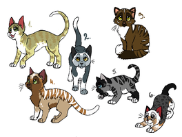 Cat adoptables by MoMo-PointAdopts