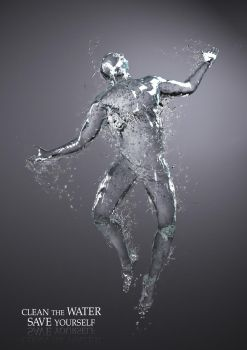 Water and human by sergin3d2d