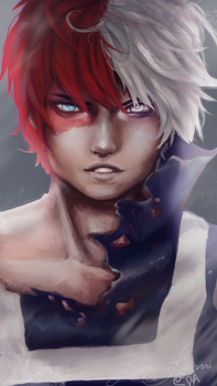Todoroki Shouto by ImagineKami