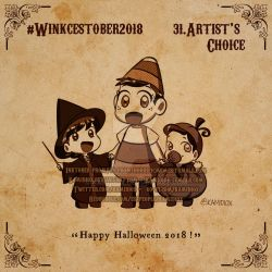 Winkcestober 2018 day 31: Happy Halloween! by KamiDiox
