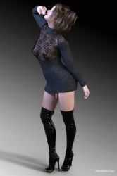 Sissy's new thigh high boots. by NorthernGuy456