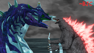 [MMD] Godzilla 2000 vs. Perfect Chaos by BigJohnnyCool