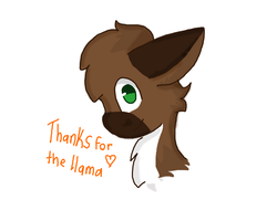 Thanks for the llama :P by Applitol