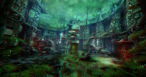 Survivors anaglyph by arsdraw