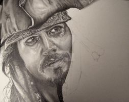 Johnny Depp WIP 3 by Anthony-Woods