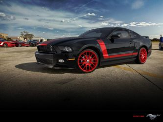 Mustang red and black by JamesZilla2k11