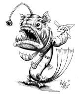 Angler Fish Alien by OuthouseCartoons