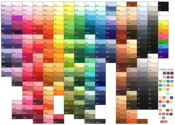 Complete Copic Color Chart by Jad-Ardat