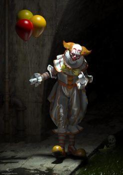 Stephen King's IT Pennywise Fan Design by mikaelquites