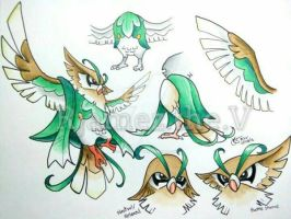 Fowlcoon - Rowlet's final evolution concept by rjamez-the-v