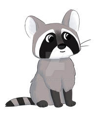 Racoon by Cat-Leen