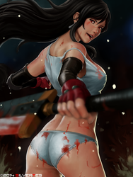 Commission : Tifa Lockhart Sexy by SilverTES