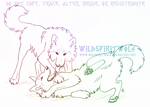 Affectionate Wrestling Wolves - Sketch Commission by WildSpiritWolf