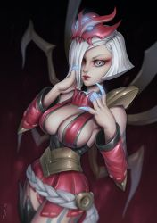 Blood Moon Elise (Lol fanart) by essentialsquid