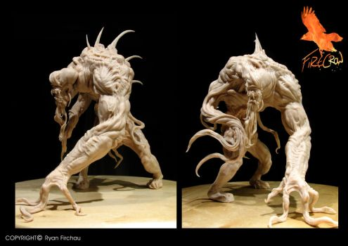 Creature design sculpt by firecrow78