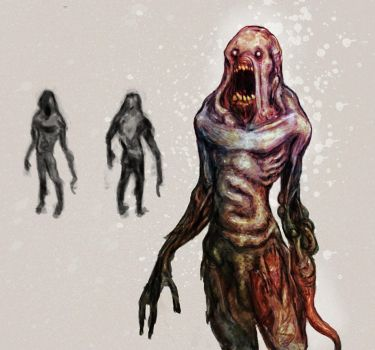 tentacle zombie by faustie