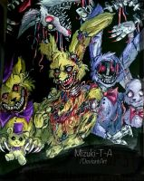 My favorite animatronics from FNaF by Mizuki-T-A