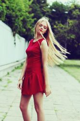 Lady in red II by anylife