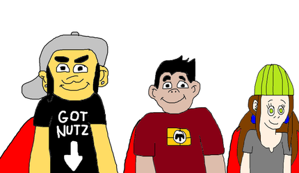 Phil, Jack and Chita Wearing Superhero Capes by MikeJEddyNSGamer89
