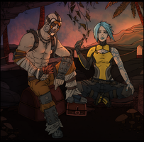 Borderlands 2: Krieg/Maya by maryallen138