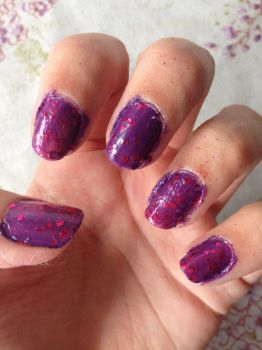 Jennifer the Kitty color nails by violetasilvestre2011