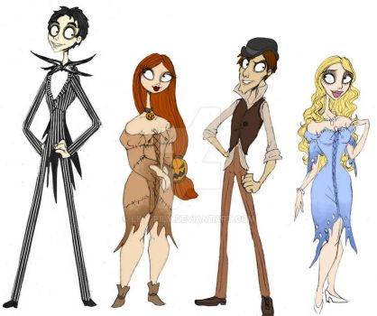 Jack, Sally, BJ, CB - living by Lily-pily