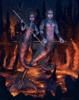 Warriors of the Deep by ADKKitty