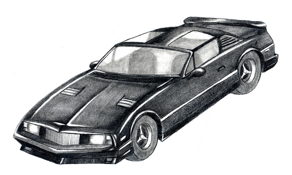 Freehanded sports car by DAVEAC1117