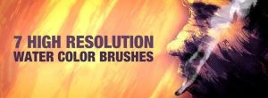 7 High Resolution Water Color Brushes by johannschill