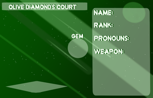 Outcast Court application - Olive Diamond's court by Blixxing
