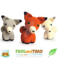 Renard Fox Trio Amigurumi Pattern FROGandTOAD Cr by FROG-and-TOAD