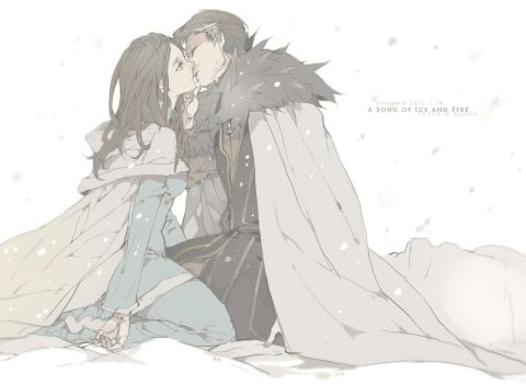Kiss in Eyrie by Wavesheep