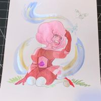 Pink Diamond and Butterflies by SoVeryUnofficial