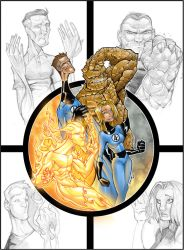 fantastic four colour by thenota