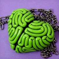 I Heart Brains Necklace -mold by beatblack