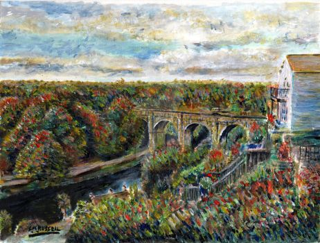 Knaresborough Oil Painting by SRussellart