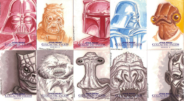 Star Wars cards by ShaunStroup