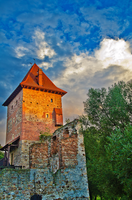Castle Tower in Sunset Shine by marrciano