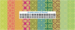 30 seamless patterns for Photoshop pack 1 by CIRQUAN