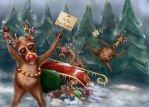 Reindeer Go On Strike by Ivy00