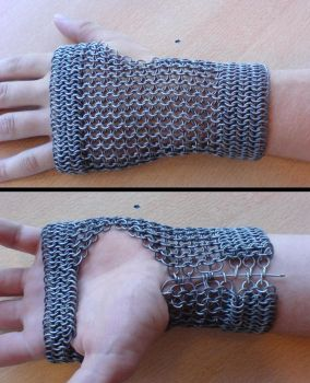 Chainmaille bracer by unreal-hunter