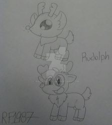 Rudolph (Christmas Challenge #3) by RioluFan1987