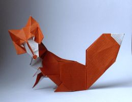 Origami fox by Orestigami
