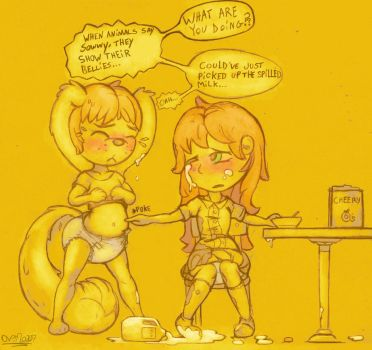 Fwo and Laura - Spilled Milk by OverFlo207 by OverFlo207