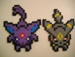 Overworld Espeon and Umbreon (Updated) by RetroNinNin