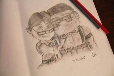 Carl and Ellie, from the ''UP!'' Movie by Pixar by JanGana
