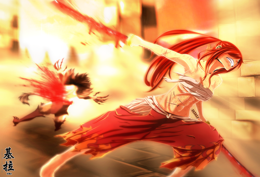 Fairy Tail - Erza Scarlet - Power Above The Senses by Kira015
